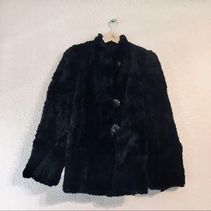 Vintage antique black fur coat Eilers Furier s / m